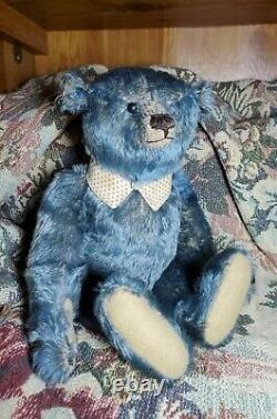 HUMPHREY, Antique Hand Made Teddy Bear by PAT MURPHY, Mohair, Original Hang Tag
