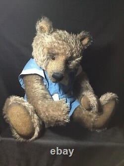 Handmade 30 Mohair Teddy Bear, Paulie OOAK by artist Beth Anne Martin