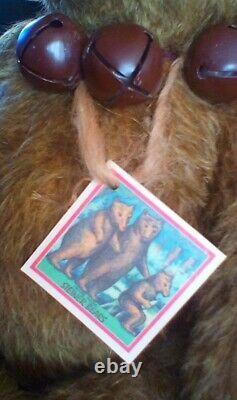 Heidi Steiner Mohair Artist Teddy Bear Jack With COA Tag 22 Inches Tall