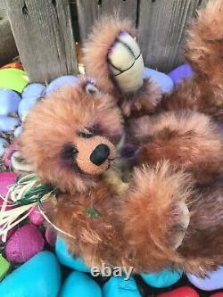 IVY Artist Mohair REDLAND Teddy Bears Positionable Airbrushed Accents Vintage