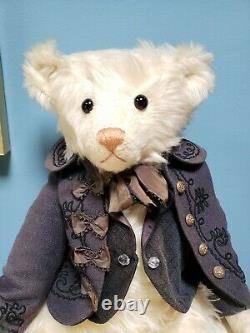 Kathleen Wallace Rare Edition #1/1 Stier Bears Mohair Teddy Bear 22 Signed 1988