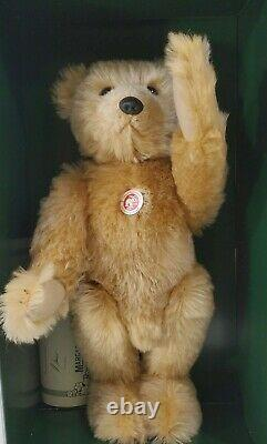 LM VINTAGE 1993 Steiff 404207 Teddy Bear 1905 Replica 20 Mohair Jointed NEW NIB