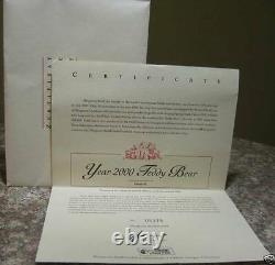 Large 43 cm Blonde Mohair Steiff Year 2000 Millenium Bear Teddy Bear 670374