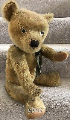 Large Antique Chiltern or Similar Mohair Jointed Teddy Bear British 1930s 24