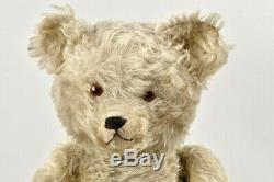 Large antique jointed marvelous teddy bear 22 inches deep long mohair