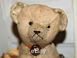 Lovely antique 14 Bing mohair humpback teddy bear from the 1920s