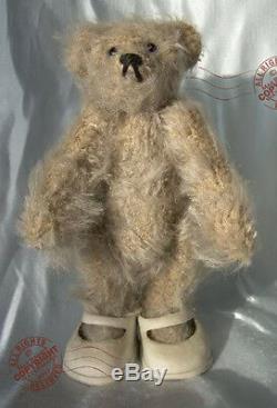 MINIATURE artist TEDDY grey mohair ROOSEVELT BEAR CO 4 by Cathy Peterson OOAK