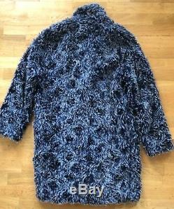 MSGM Runway Oversized Double Breasted Winter Knee Length Teddy Bear Coat Size 48