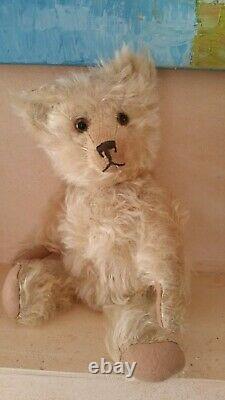 Magnifique Ours Ancien Mohair Anglais / Peluche / Collection / Teddybear