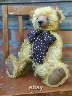 Marina's Bears vintage artist teddy bear! OOAK Antique style. Plush, 35cm