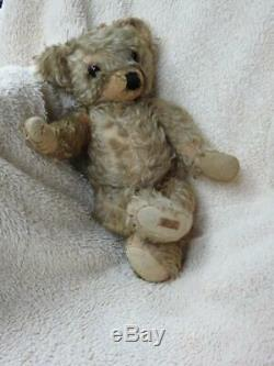 Merrythought 1930 Wishbone Button & Label Mohair Jointed 18 Teddy Bear'rufus