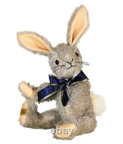 Merrythought Binky bunny rabbit classic jointed mohair 23cm / 9 inches BBU9