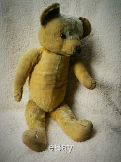 Merrythought Magnet 1930-39 Wishbone Button Mohair Fully Jointed 21 Teddy Bear