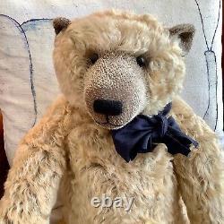 Mohair Artist Teddy Bear 22-inch Charlie by Karen Meer Mad Hatted Bears, OOAK