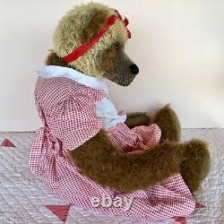 Mohair Artist Teddy Bear 24-inch Adora by Beth Anne Martin, OOAK Unique Panda