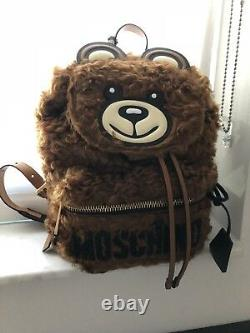 NEW AW18 Moschino Couture Jeremy Scott Teddy Bear Ready 2 Bear Backpack