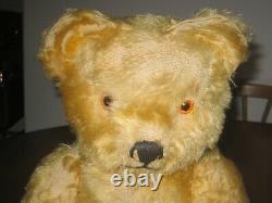 OLD TARA TOYS MUSICAL MOHAIR TEDDY BEAR PURCHASED IN 1952 45cm TALL