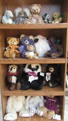 OOAK Artist Teddy Bears Mohair Carmel Alpaca Diana L. Watts