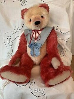 OOAK Teddy Bear, Beardsley Bears, USA, OOAK, 30, Raspberry/Cream Mohair, Panda
