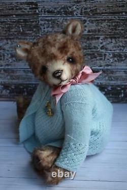 OOAK artist mohair teddy bear'Marion'- 15.75, L Shaw, Butterfly Bears