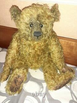 One of a kind artist teddy bear by Pat Murphy