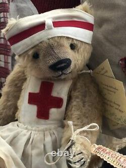 Ooak mohair one of a kind artist teddy bears Limited Edition Beardsley Bears