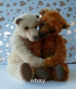Ooak teddy bears/pair of bears/ mohair