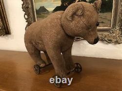 Orig. ULTRARARE Jugendstil 1900 1904 Victorian STEIFF teddy Rolling Bear Mohair