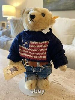 POLO Ralph Lauren Steiff Mohair Teddy Bear The American Bear with Tags