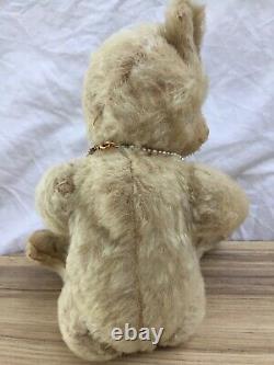 Pearl, A Rare Antique 1915-20 White Mohair Alpha Farnell Teddy Bear 11 Inches