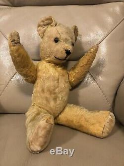 Pedigree Teddy Bear Vintage 1940s Golden Mohair Moving Arms Legs English 1950s