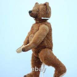 Pre-War Antique Bing Teddy Bear 1910 Character Hunchback Bear Brown Curry Mohair