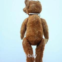 Pre-War Antique Bing Teddy Bear 1910 Character Hunchback Brown Curry Mohair Bear