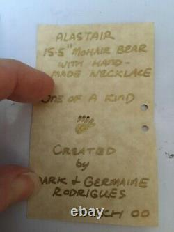 RARE ALISTAIR Quality Artist Alpaca Mohair Wolfish Teddy Bears MG RODRIGUES OOAK