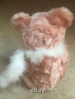 RARE Vintage Hermann Teddy Bear Pink Mohair, Growler. 197/4000