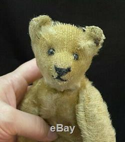 Rare 9 1910-1927 Steiff Jointed Mohair Teddy Bear with Original Button Hump