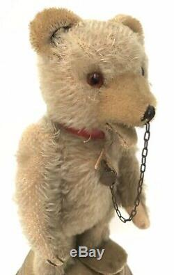 Rare Antique Hermann Original Mohair Teddy Bear Music Box In Working Order
