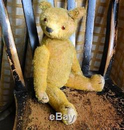 Rare Early Hump Back 16 Teddy Bear C1910 Mohair Fully Jointed Possibly American