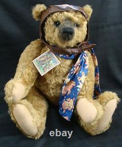 Rare Heidi Steiner Melvin Mohair Growler Ooak Teddy Bear When Pigs Fly Coa Tag