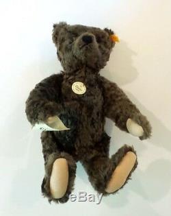 STEIFF 1920 CLASSIC BROWN MOHAIR 16 TEDDY BEAR #000850, c. 1993-2000 with TAGS