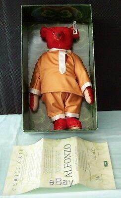STEIFF ALFONZO Teddy Bear Replica 1908 Mohair Toy Germany. 842/5000 Boxed c1990
