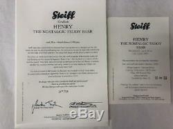STEIFF EAN 036392 Henry The Nostalgic Teddy Bear Mohair Ltd