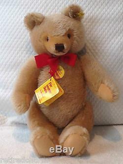 STEIFF ORIGINAL TEDDY BEAR 14 0201/36 IDs JOINTED HONEY VNTAGE 1968-90 MOHAIR
