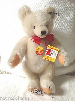 STEIFF ORIGINAL TEDDY BEAR 14 0203/36 IDs JOINTED WHITE VINTAGE 1982 MOHAIR