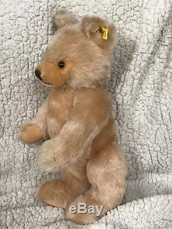 STEIFF ORIGINAL TEDDY BEAR 16 0201/41 LG BOX IDs JOINTED HONEY VNTAGE 1982-87