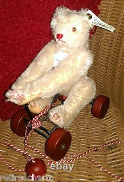 STEIFF RECORD TEDDY ROSE Bear (1991) Replica 1913 400704 LT ED 8 Mohair