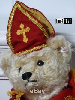 STEIFF SINTERKLAAS ST. NICHOLAS DUTCH MUSICAL TEDDY BEAR 10.6in. /27cm EAN 661068