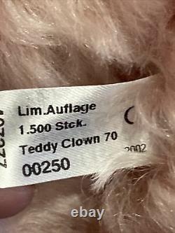 STEIFF TEDDY CLOWN 1926-REPLICA #407277 ROSE MOHAIR BEAR With CLOWN HAT 28 $800