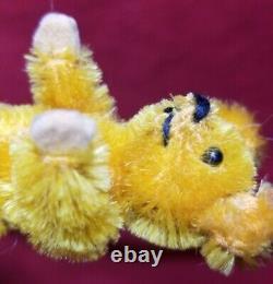 Schuco 1930's Miniature Vintage Teddy Bear mohair gold 2.5 metal eyes body