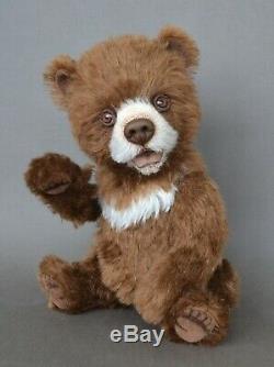 Sebastian Himalayan bear Teddy Bears OOAK gift, 11 in OOAK by Petelina Natalia